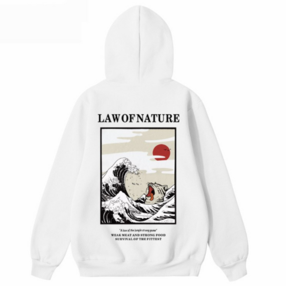 Urban Clothes Men's Hoodies- Law Of Nature Hoodie - FASHIONOPOLITAN