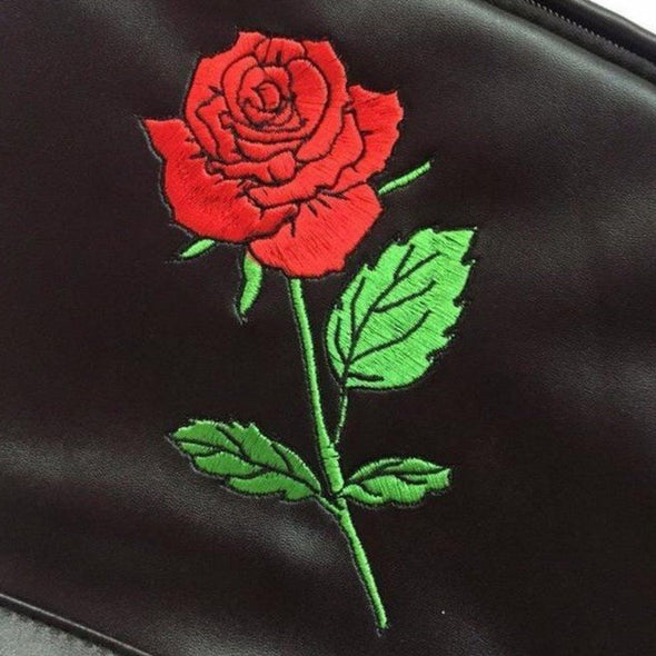 LEATHER Rose Backpack - FASHINOPOLITAN