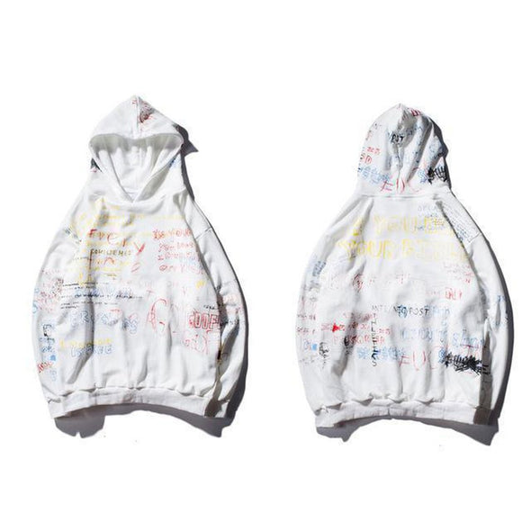Urban Clothes Men's Hoodies- Mind Graffiti Hoodie - FASHIONOPOLITAN