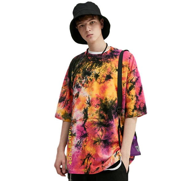 Urban Clothes Men's T-Shirts- Oversized Tie Dye Tee - FASHIONOPOLITAN
