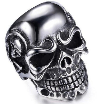 Men's Rings- Skull Stainless Steel Ring - FASHIONOPOLITAN