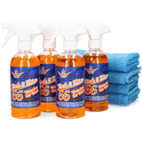 Wash&Shine 66 waterless carwash  wash&wax cleaning kit L - 4x16.9 oz + 4 Towel