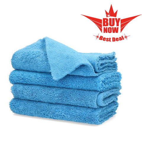 "Shinykings 4x Microfibre ""xtrasoft"" Cleaning towel 40x40cm 16x16in."
