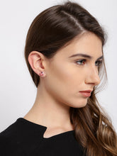 Load image into Gallery viewer, Pink Swarovski Collection Floral Studs