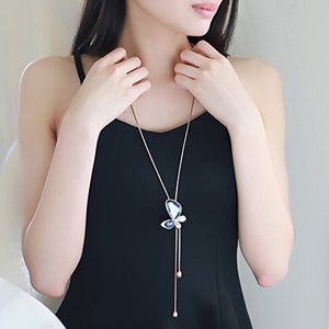 Beautiful Butterfly Long Chain Pendant for Girls