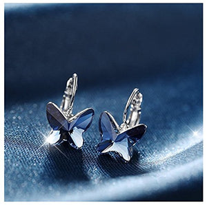 Beautiful Blue Butterfly Pendant Set from Genuine Swarovski Crystals