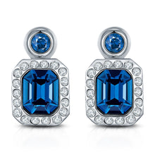 Load image into Gallery viewer, Classic Blue Royal Crystal Earrings for Women and Girls