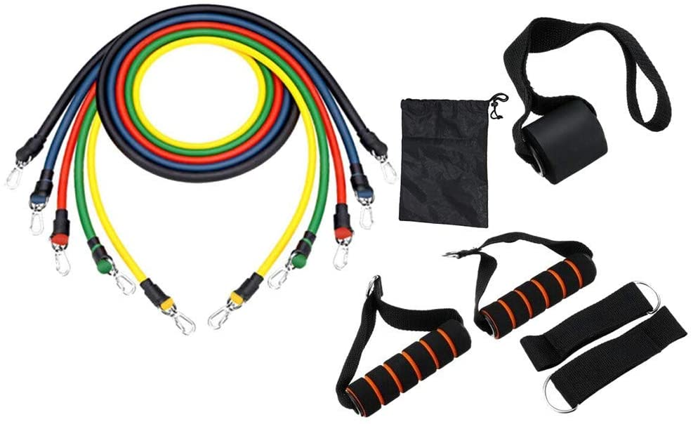11 Piece Resistance Bands with handles - BBx FITNESS