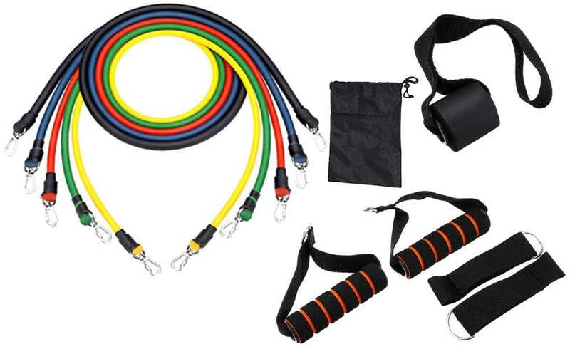 11 Piece Resistance Bands with handles - by Bon Bon x