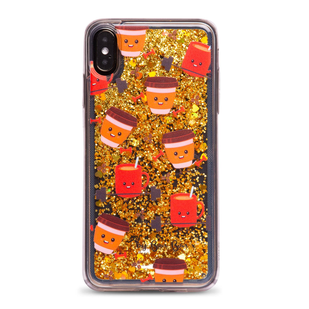 A Whole Latte Sweat Liquid Glitter Phone Case - PRE ORDER - by Bon Bon x