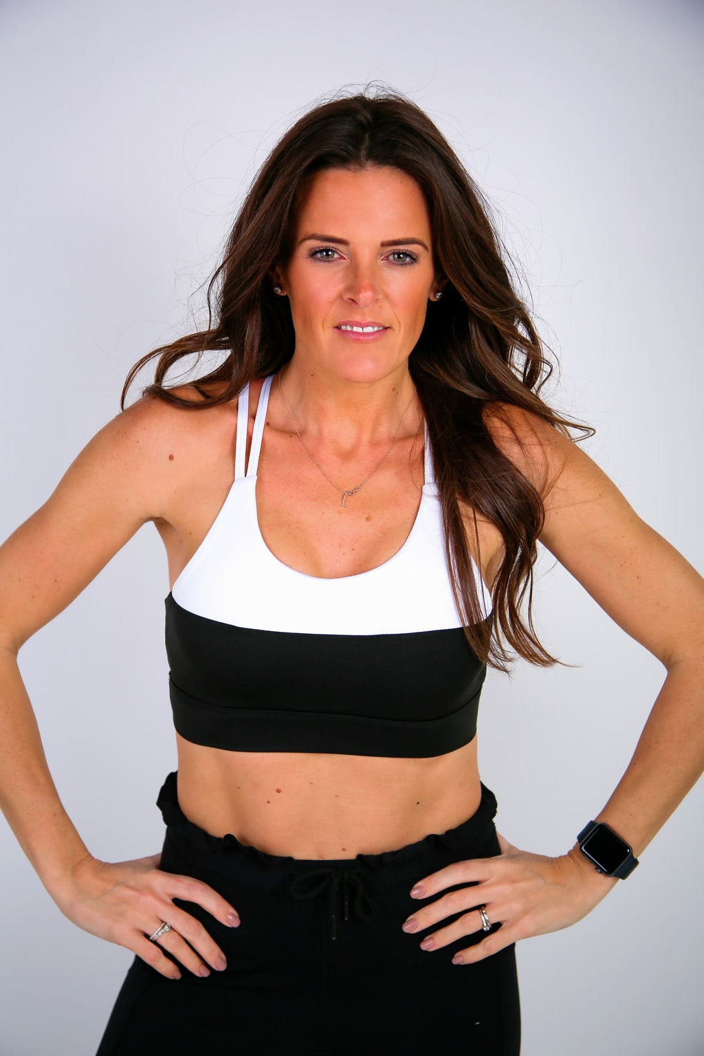 Sports Bra White/Black - BBx FITNESS