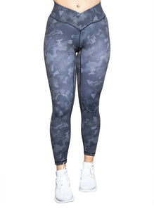 Gym Leggings - Grey Camo - BBx FITNESS