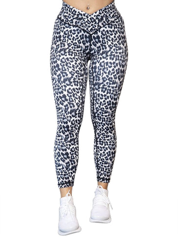 Gym Leggings - Snow Leopard - BBx FITNESS