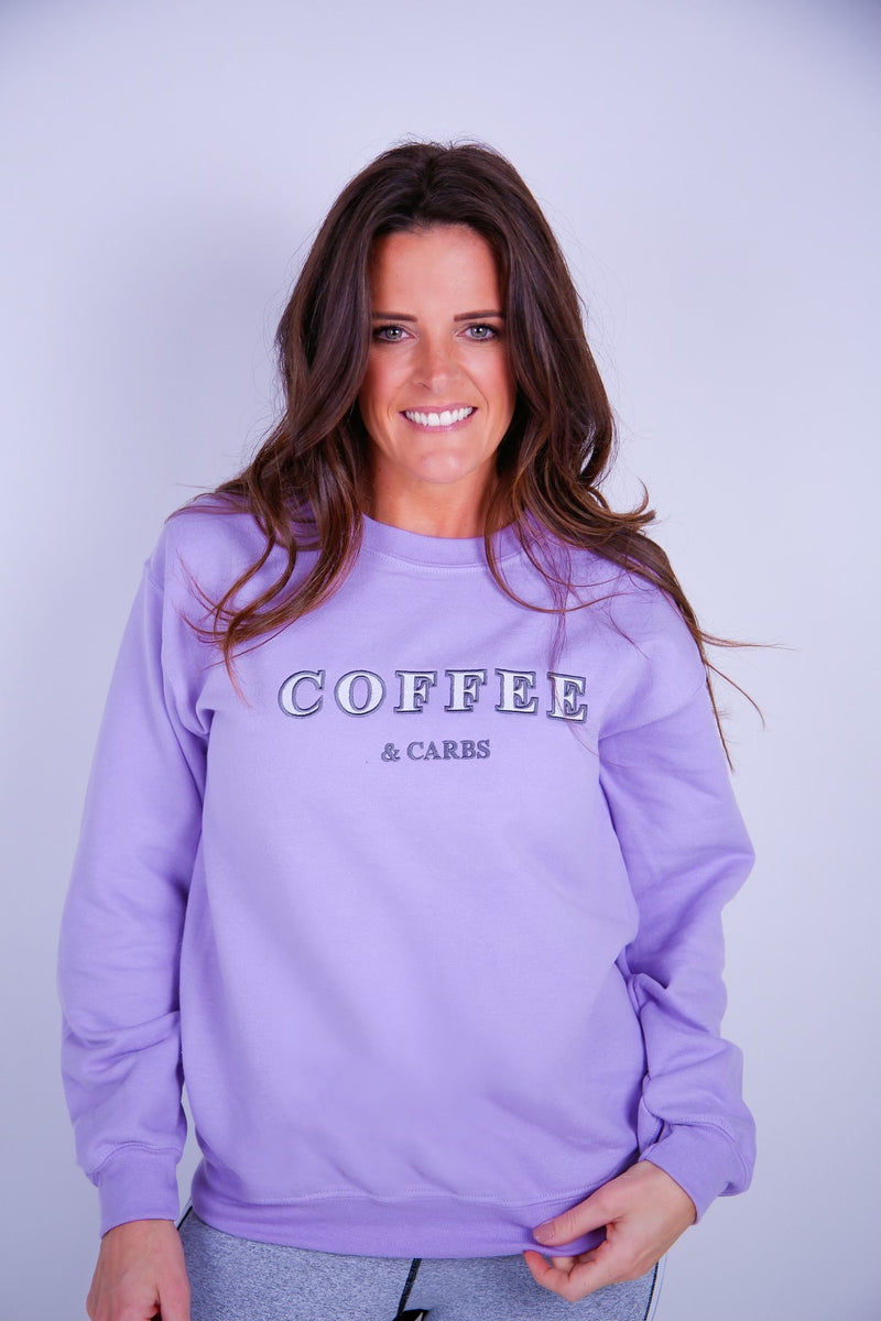 Coffee & Carbs Embroidered Sweater - BBx FITNESS