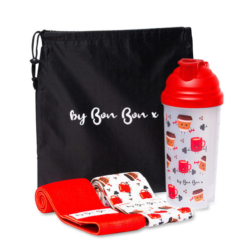 A Whole Latte Sweat Protein Shaker & Glute Band Set - by Bon Bon x