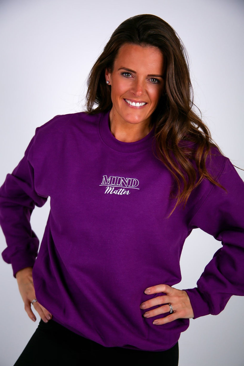 Mind Over Matter Embroidered Sweater - BBx FITNESS