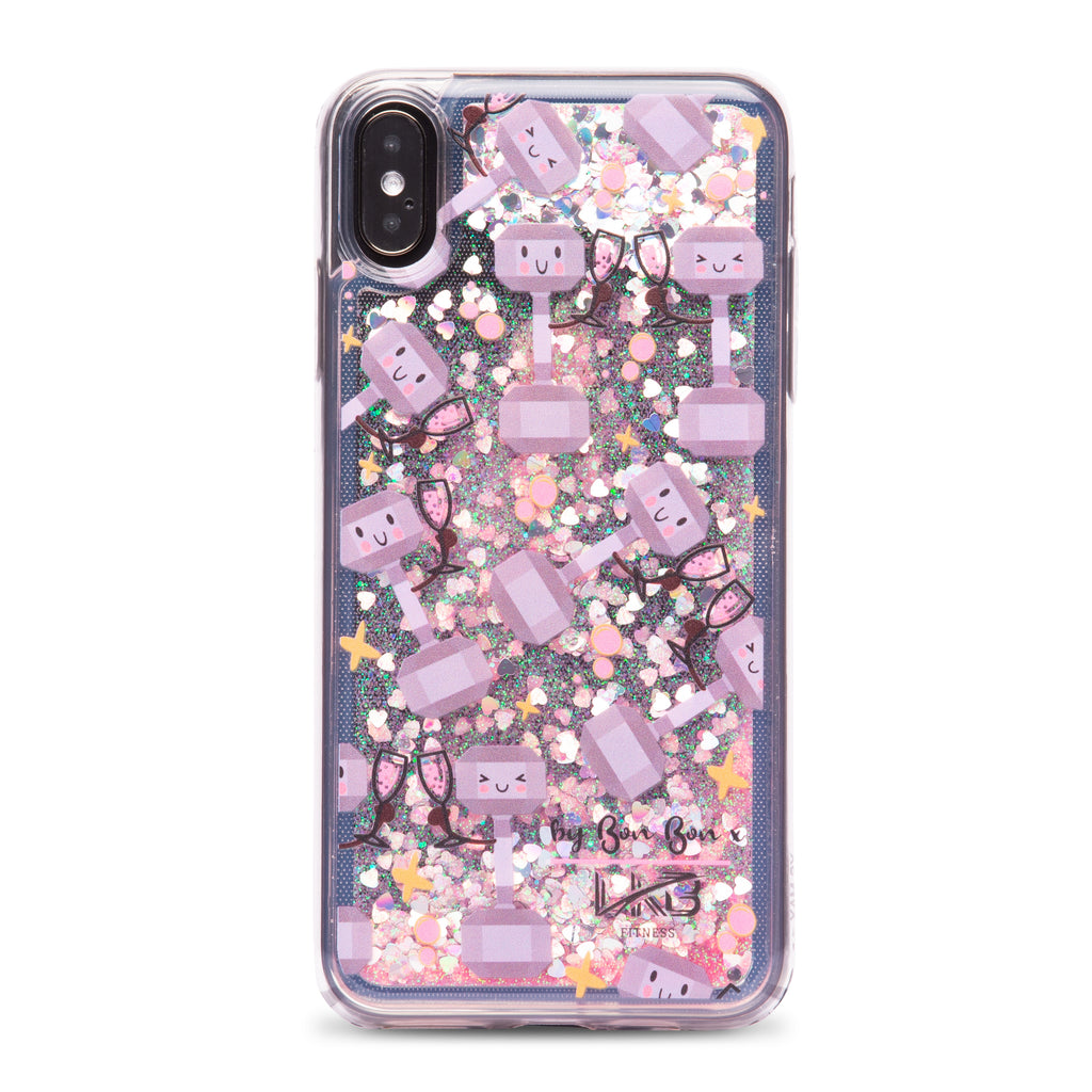 Fitness & Fizz Liquid Glitter Phone Case - PRE ORDER - by Bon Bon x