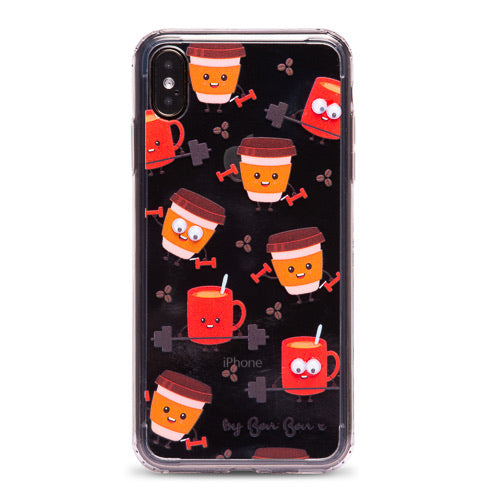 A Whole Latte Sweat Phone Case with Goggle Eyes - PRE ORDER - by Bon Bon x