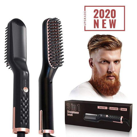 Hair and Beard straightener Brush
