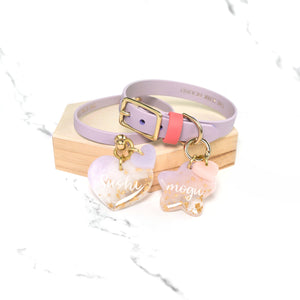 Relixer Co. x The Sleek Hound Lilac Collar & Tag Bundle