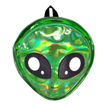 Load image into Gallery viewer, Alien Head Backpack Green, Front | Pakapalooza