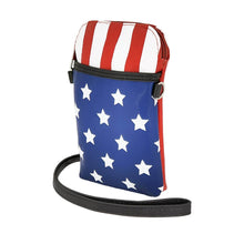 Load image into Gallery viewer, American Flag Crossbody Bag, Side | Pakapalooza