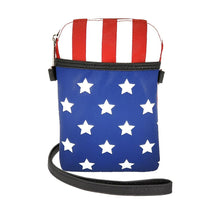Load image into Gallery viewer, American Flag Crossbody Bag, Front | Pakapalooza