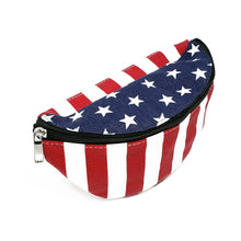 Load image into Gallery viewer, American Flag Fanny Pack, Side | Pakapalooza