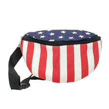 Load image into Gallery viewer, American Flag Fanny Pack, Front | Pakapalooza