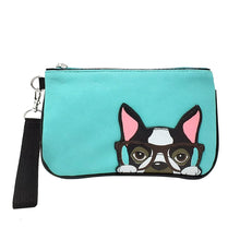 Load image into Gallery viewer, Boston Terrier Wristlet, Front | Pakapalooza