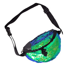Load image into Gallery viewer, Green Sequin Fanny Pack | Pakapalooza