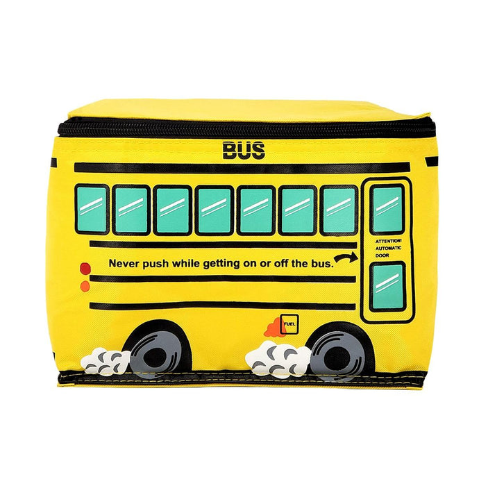 School Bus Lunch Bag, Front | Pakapalooza