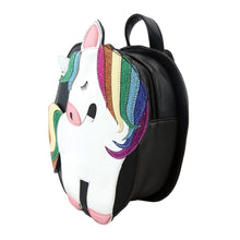 Load image into Gallery viewer, Unicorn Mini Backpack, Side | Pakapalooza