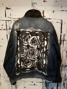 CUSTOM DENIM JACKET in Bb (Flat BLK)