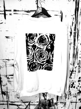 Load image into Gallery viewer, ROSES IN Bb (Flat BLK) WHT - Bb VI Title Crewneck