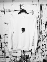 Load image into Gallery viewer, ROSES IN Bb (Flat BLK) WHT - DF Crewneck