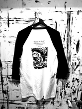 Load image into Gallery viewer, ROSES in Bb (Flat BLK) Raglan Baseball Tee