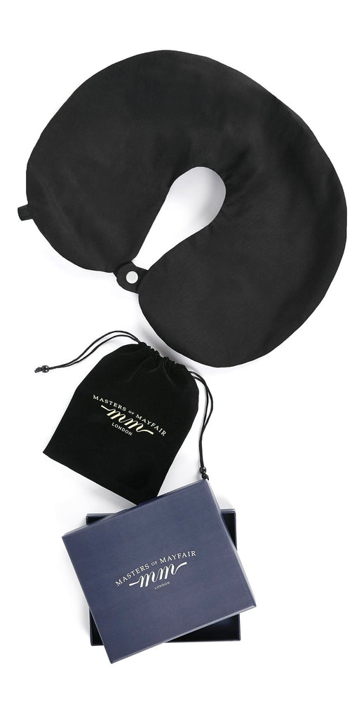 Luxury Travel Pillow in Black