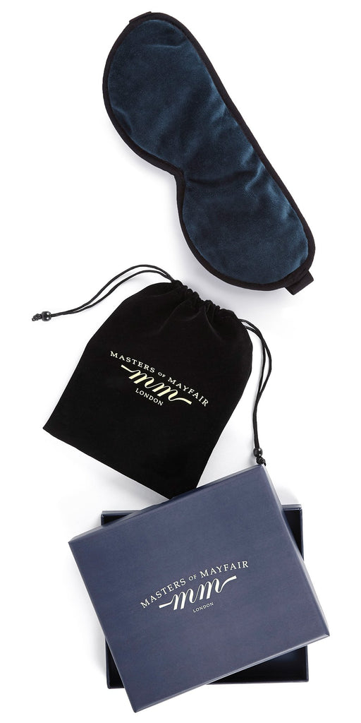 Royal Navy Blue Silk Sleep Mask
