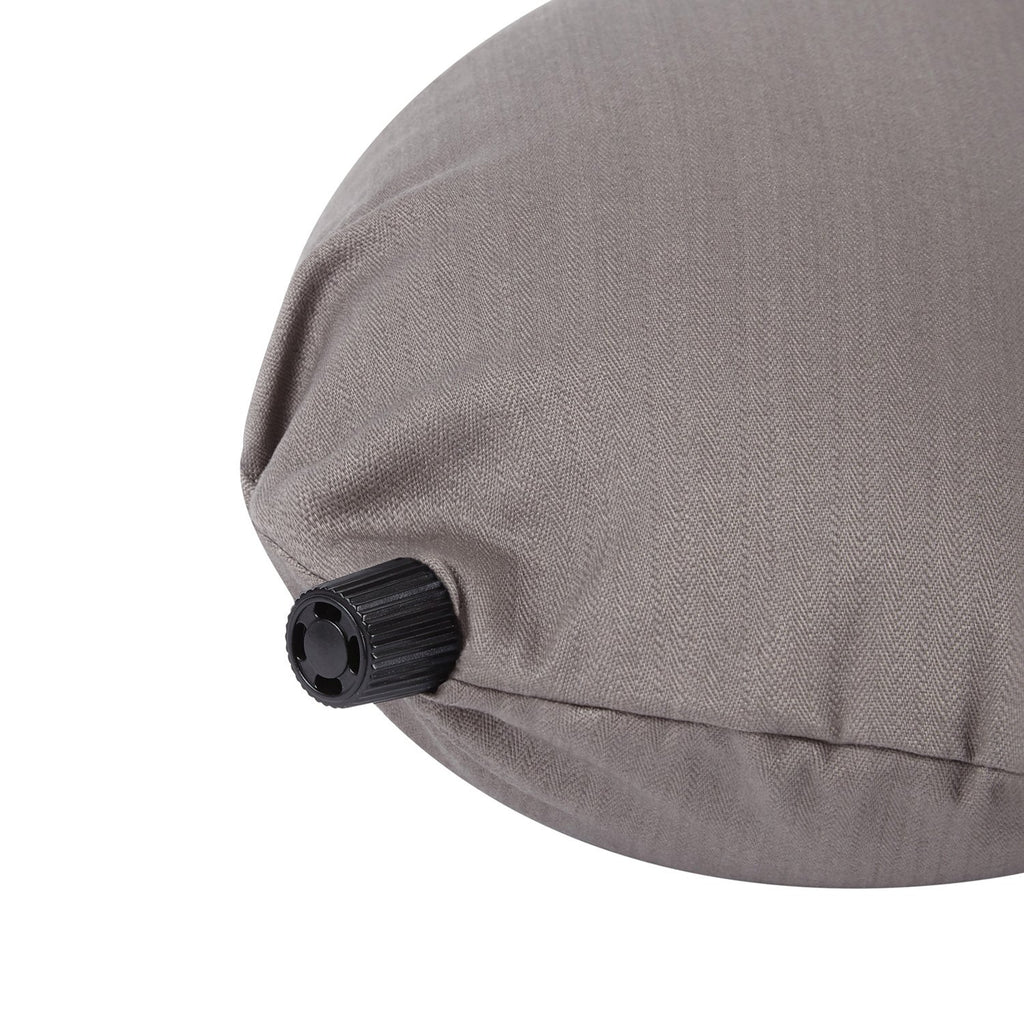 Luxury Travel Pillow in Taupe Grey