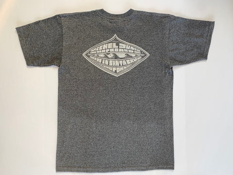 GREY DIAMOND TEE - Michel Junod Surfboards