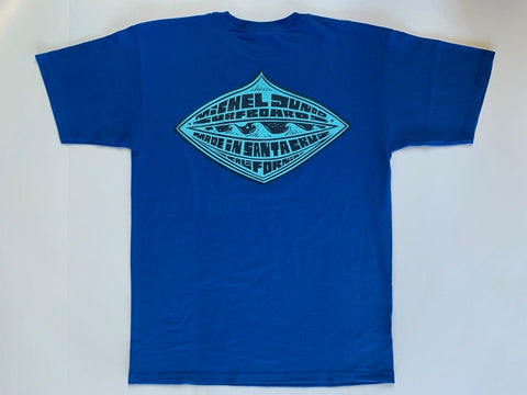 ROYAL BLUE DIAMOND TEE - Michel Junod Surfboards