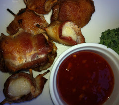 Bacon Wrapped Sea Scallops ($16.95/lb)