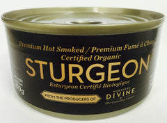 Premium Smoked Sturgeon ($9.99/can)