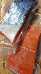 Frozen Red Spring Salmon Portions ($12.95/lb)