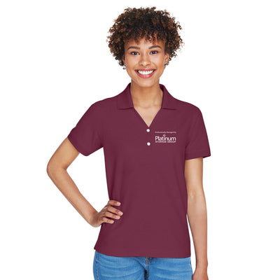 Platinum Ladies Short Sleeve Cotton Polo - Stock