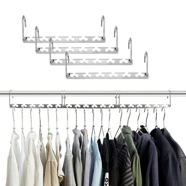 (20% Discount Today)Magic Hangers Closet Space Saving(Plastic and Metal)