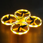 Free Shipping-Watch Remote Control Mini 4 Axis Quadcopter