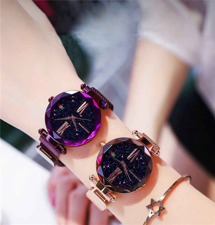 Custom Bling-Bling Magnetic Watchband Engraved Women Watches-Free Shipping
