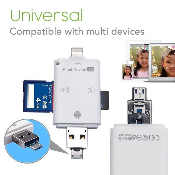 (Hot selling 50,00 items)i-Flash Drive Mobile Card Reader-Buy 2 Free Shipping